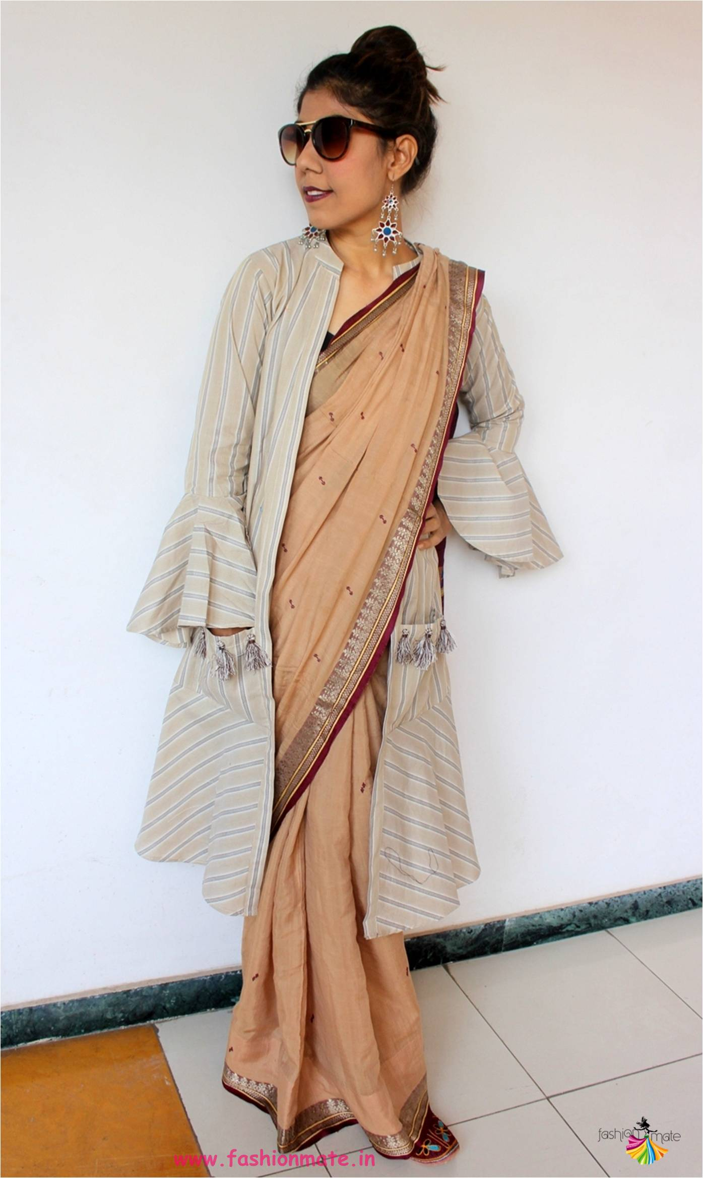 Jacket Saree Trend – How to style cotton saree with a Jacket