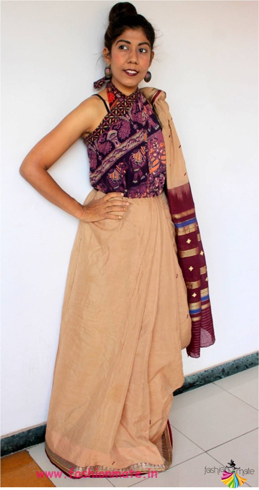 Old Skirt to Saree Blouse – ReStyle your Wrap around skirt in different ways!