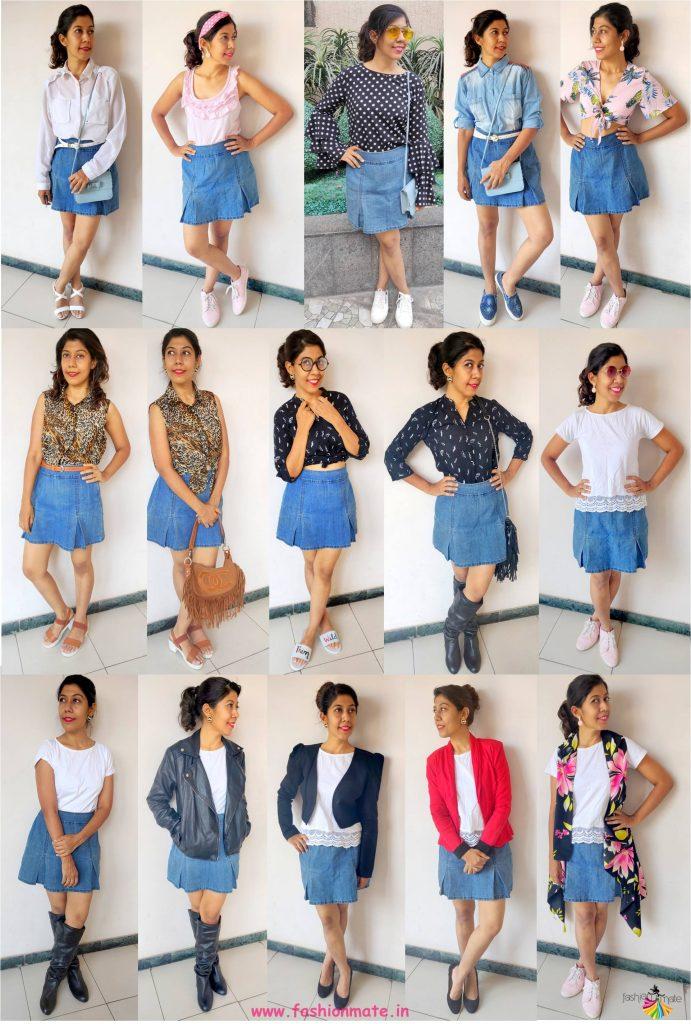 Sustainable Fashion - 15 ways to wear a Denim Skirt!