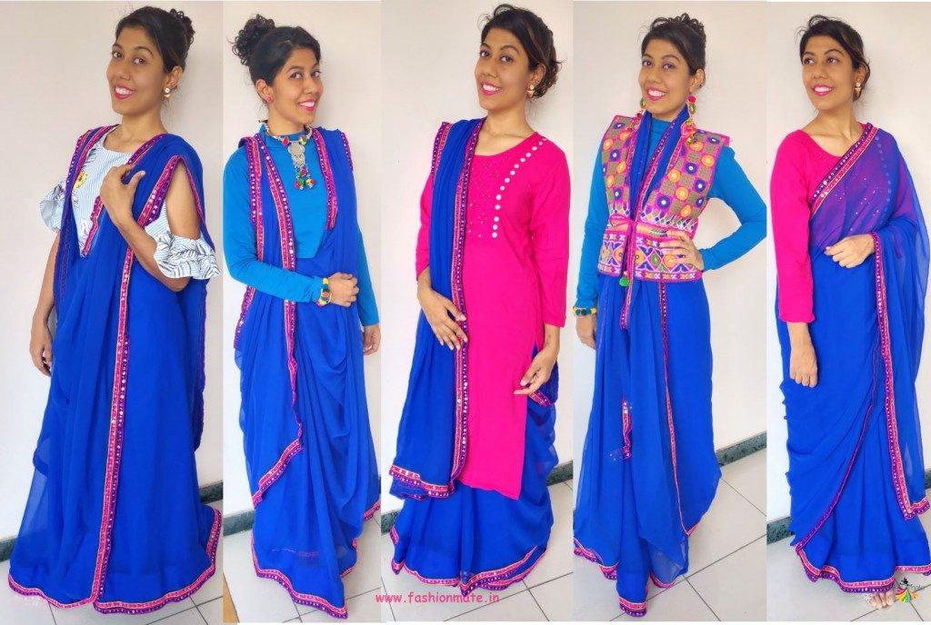 Sustainable Fashion - 5 Stylish Ways To Drape A Plain Saree!