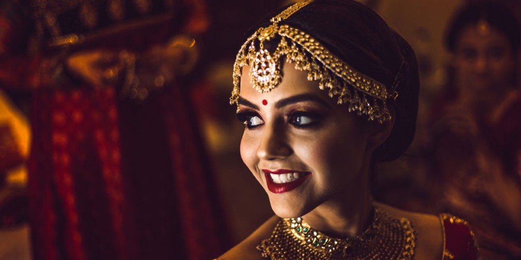Lip make-up Indian bridal makeup