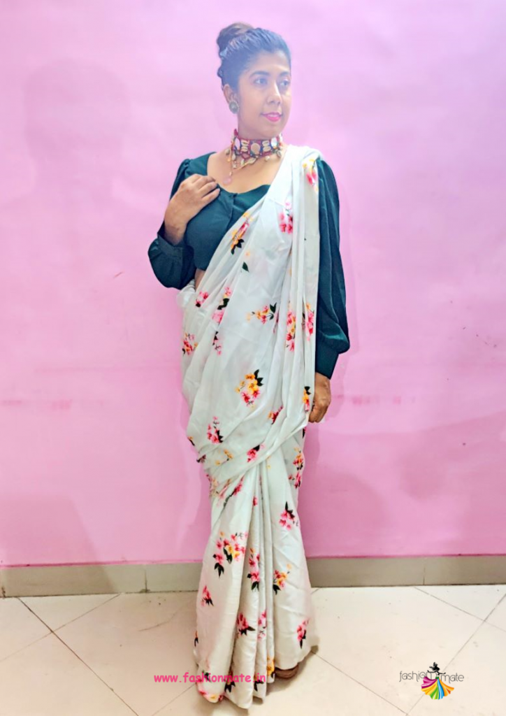 Saree style for office look