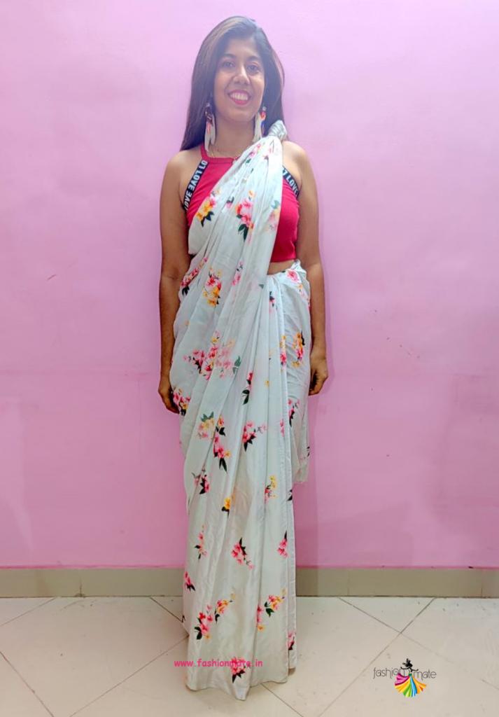 knot saree style